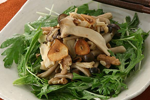 あったかキノコと京野菜のサラダ