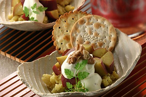 サツマイモのサワークリームサラダ