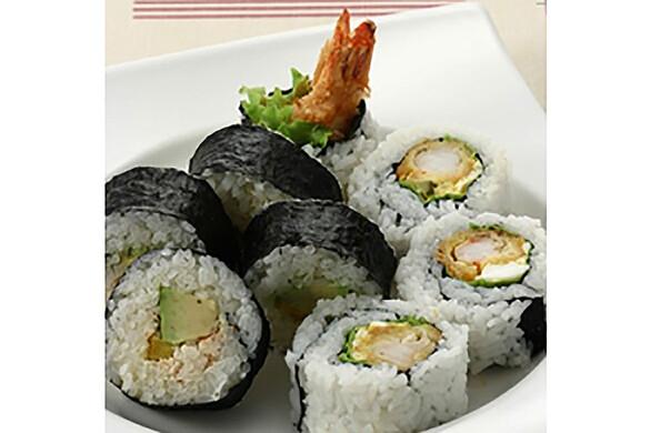 エビフライとアボカドのロール寿司