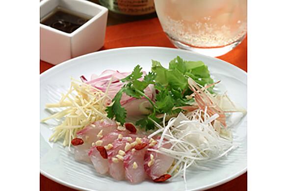 白身魚の中華サラダ