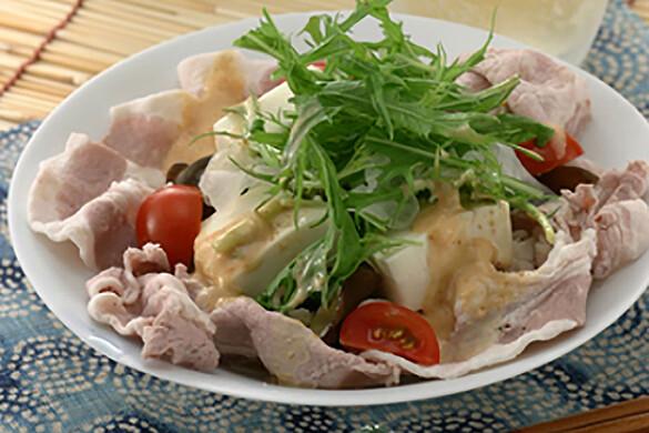水菜と豚しゃぶのゴマダレサラダ