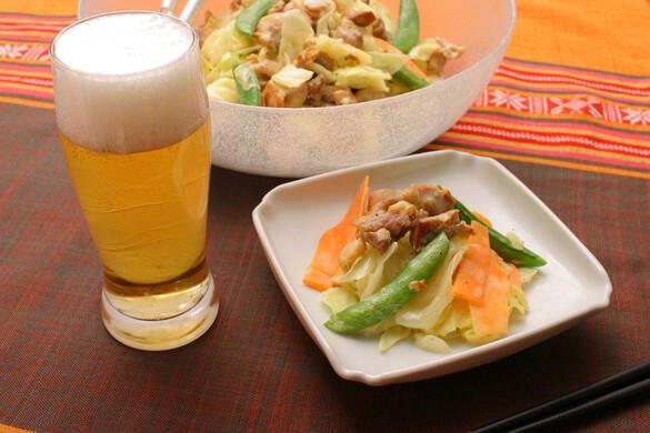 鶏肉と春野菜の温サラダ