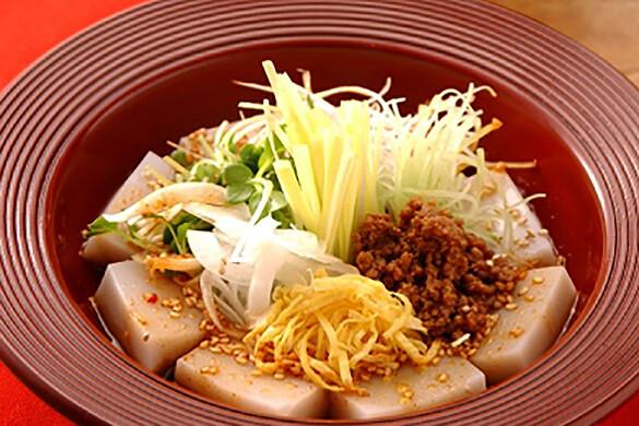 そば豆腐と旬野菜の冷菜