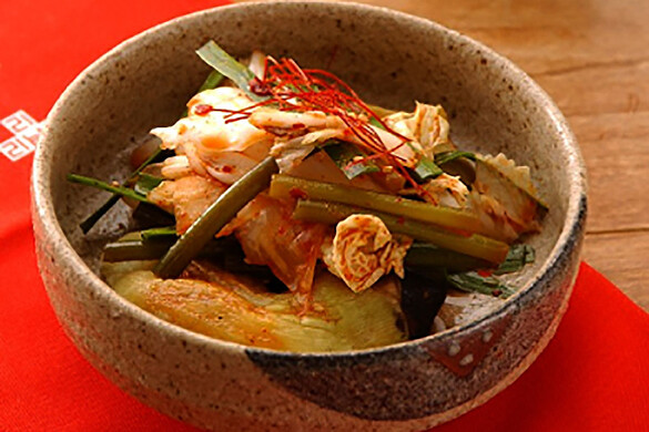 焼きナスと白菜の冷菜