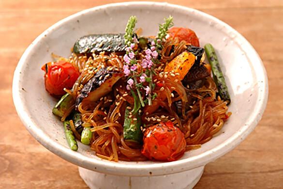 旬野菜のチャプチェ