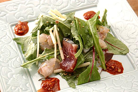 韓国風刺身サラダ