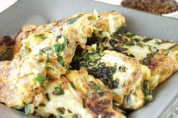山芋豆腐の韓国風チヂミ