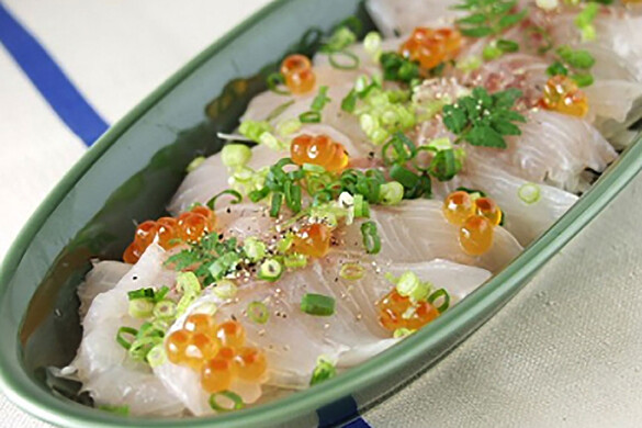 季節の魚の和風カルパッチョ