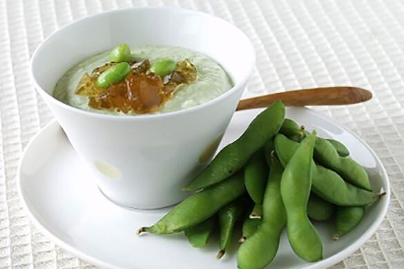 枝豆と枝豆のムース