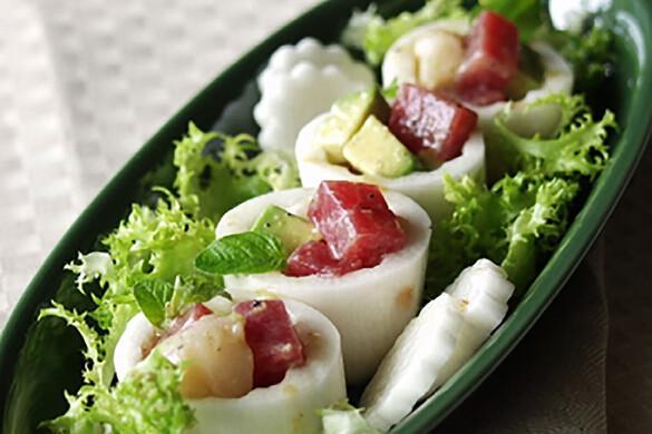 長芋とシーフードのサラダ