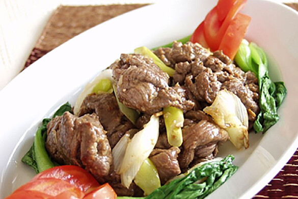 牛肉の沙茶醤(サーチャージャン)炒め