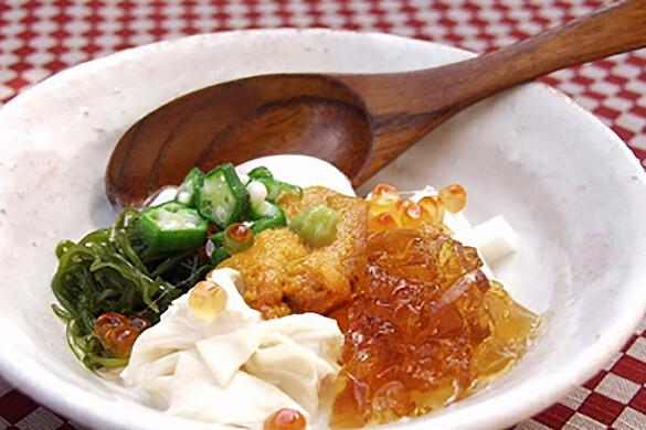 生ゆば・生ウニ温泉卵の冷菜
