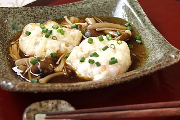 ふわふわ豆腐の茶巾蒸し