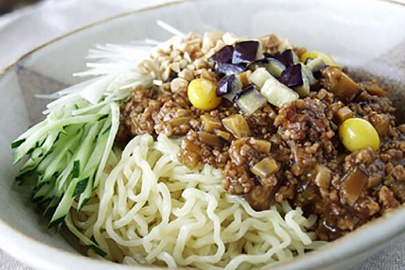 ナスと銀杏のジャージャー麺