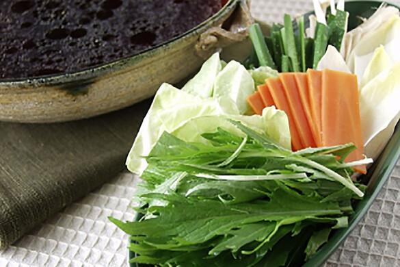 野菜のしゃぶしゃぶ 名古屋コーチンスープ
