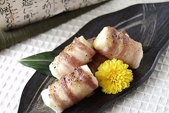 豚バラ肉のカマンベール焼き