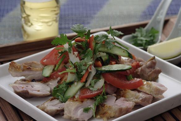 鶏のソテーサラダ・タイ風
