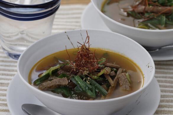 牛肉の辛みスープ