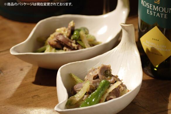 砂肝とシシトウの中華和え