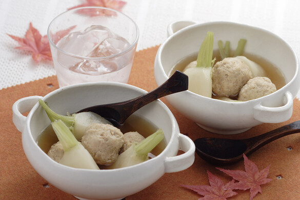 カブと肉団子のスープ煮