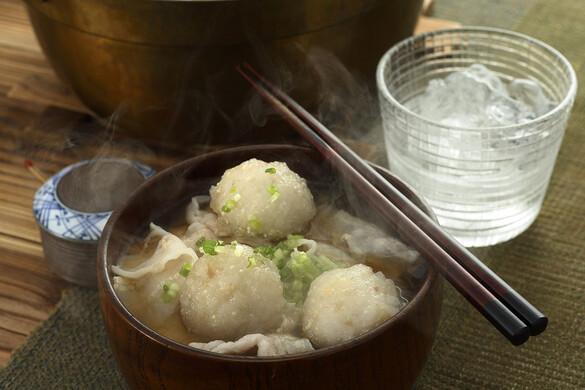 レンコン団子の豚汁