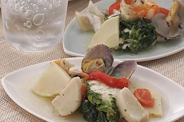 鯛と春野菜の米焼酎パピヨット