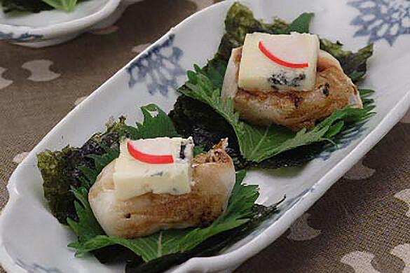 スモークチーズの大葉磯辺焼