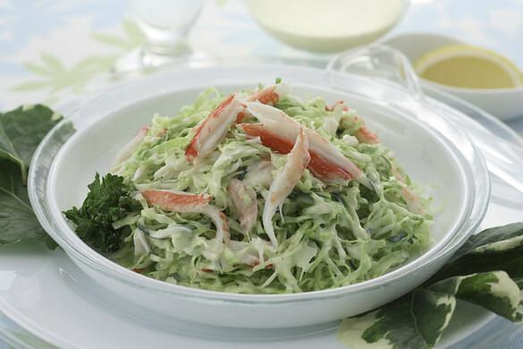 春キャベツと蟹のコールスローサラダ