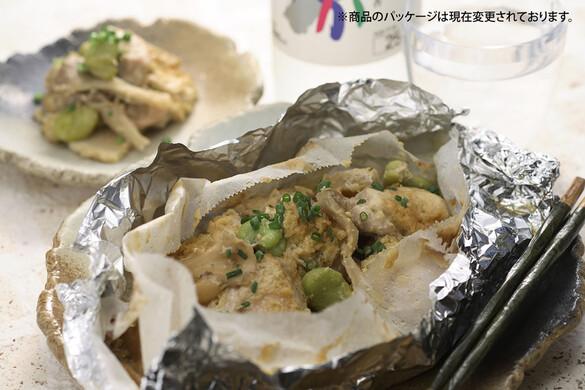 地鶏の紙包み焼き ネギ味噌柚子コショウ風味