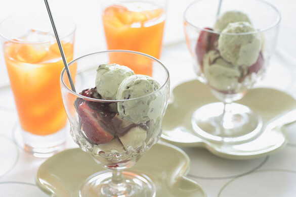 アボカドのアイスクリーム チョコチップ入り