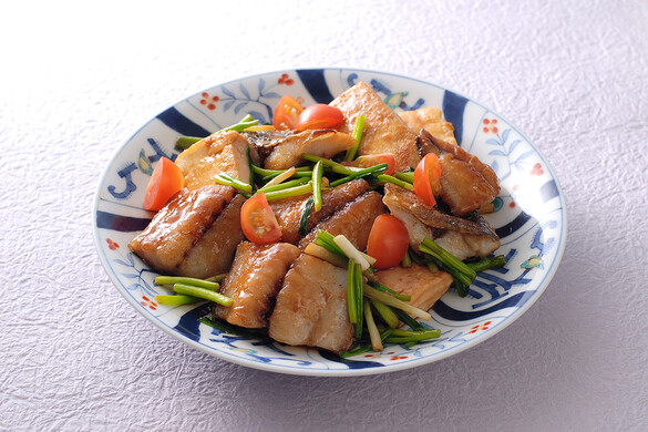 アジと豆腐のステーキ