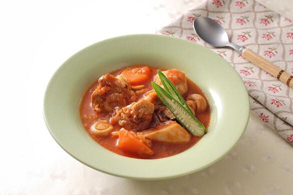 地鶏のトマトソース煮
