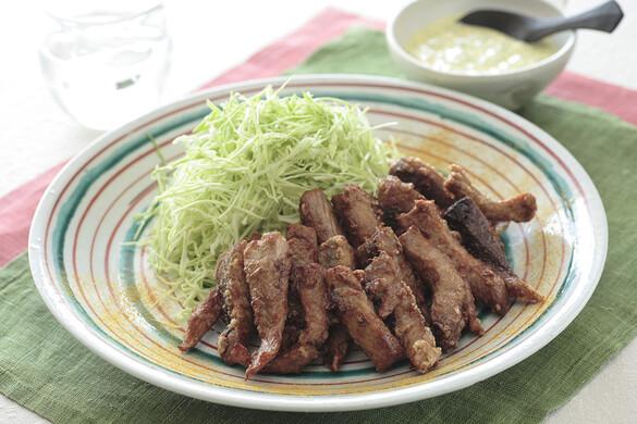 カツオの竜田揚げ カレー風味のタルタル添え