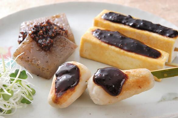 豆腐と里芋の田楽