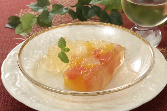 オレンジとグレープフルーツのテリーヌ