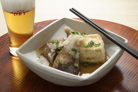ブリと豆腐の揚げだし