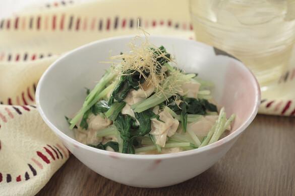 関西:水菜と生ゆばの京風おひたし