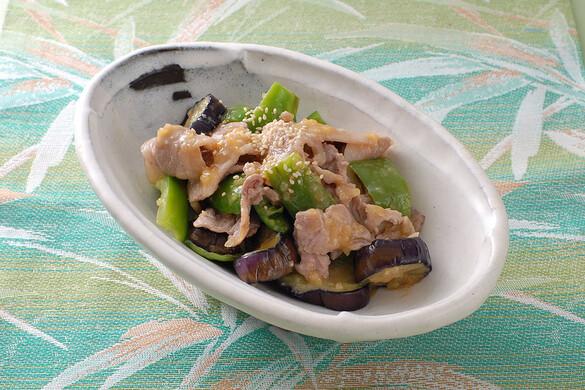 豚肉と茄子とピーマンの味噌焼き