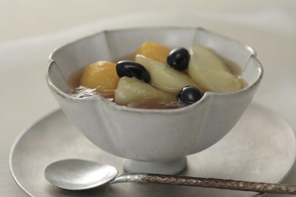 枇杷と桃の和三盆糖コンポート