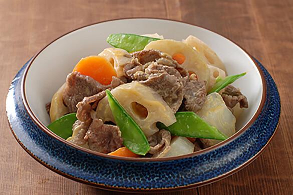 牛肉とレンコンの辛子煮