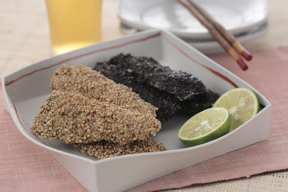 秋刀魚のゴマ焼き