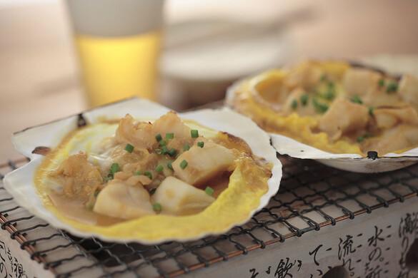東北:ホタテ貝の味噌焼き