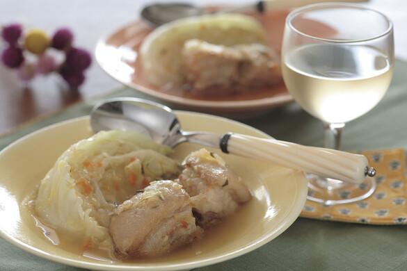 豚バラ肉とキャベツの白ワイン煮