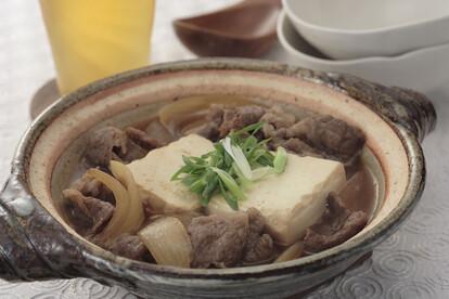あったか肉豆腐 土鍋盛り