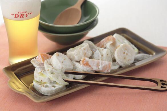ホタテと根菜のリコッタチーズ和え 白ゴマ風味
