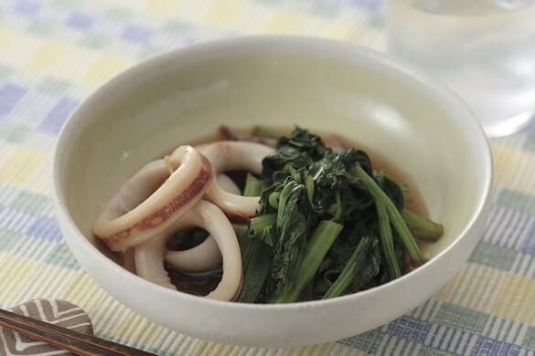 小松菜とイカの煮物
