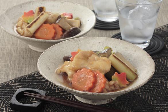鶏肉と野菜の治部煮風