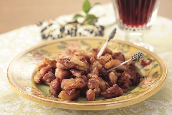 鶏肉のカリカリ炒めニンニク風味