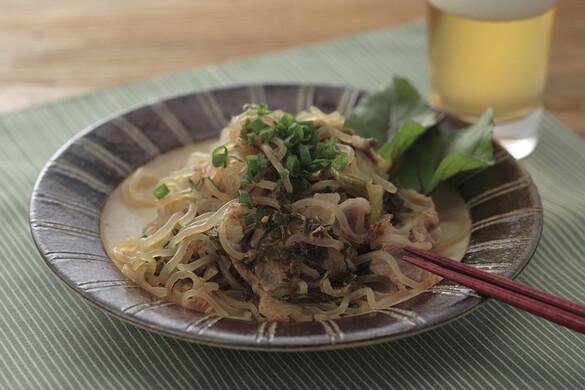 高菜としらたきの炒め煮