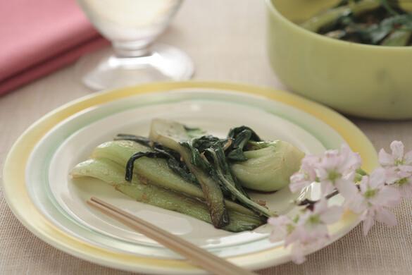 チンゲン菜のバルサミコ炒め